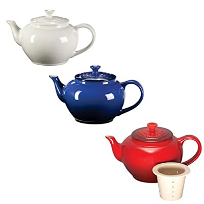 Le Creuset 22-oz. Stoneware Teapot With Infuser - Cherry