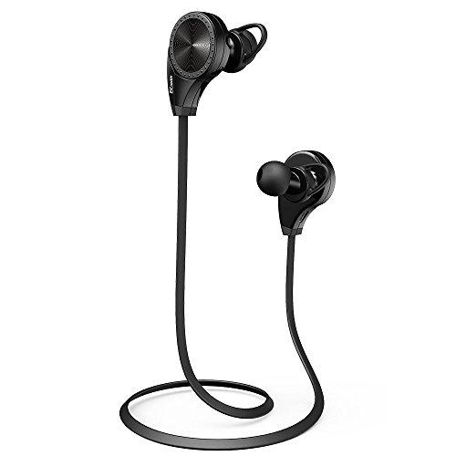 Bluetooth 4.0 Wireless Stereo Sport / Laufen & Fitnessstudio / Sport Earbuds Kopfhörer Hands-Free Bluetooth-Headset mit Mikrofon für iPhone 6 5s 5c 4s 4, iPad 2 3 4 Neue iPad, iPod, Android, Samsung Galaxy, Smart Phones Bluetooth-Geräte. (schwarz)