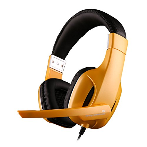 Jeecoo X5 Wired Stereo Headband Gaming Headset Multimedia Headphones With Microphone For Gamer Yellow
