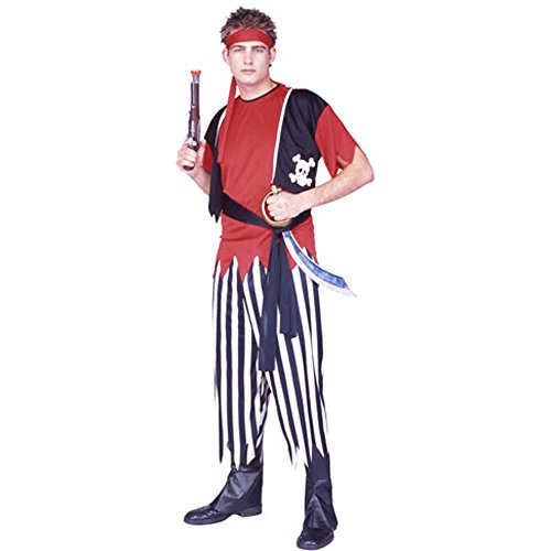 Adult Classic Pirate Costume (Size: Standard) (Size: Standard 42-46)