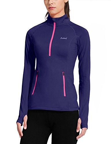 Baleaf-Womens-Thermal-Fleece-Half-Zip-Running-Top