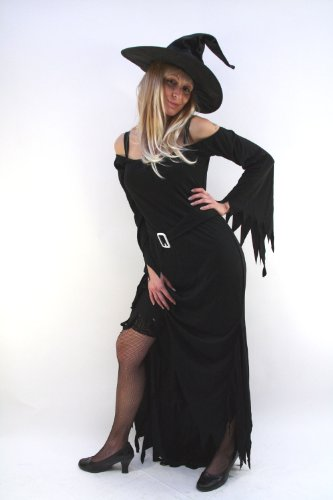 Kost&#252;m Hexe Wicked Witch Kleid Halloween Vampir Gr. 36
