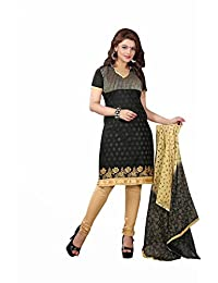 AASRI Party Wear Cotton Embroidered 3 Piece Unstitched Salwar Suit 6016