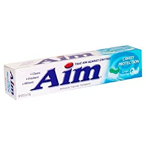 Aim Cavity Protection Anticavity Fluoride Toothpaste, Ultra Mint Gel 6 oz (170 g)