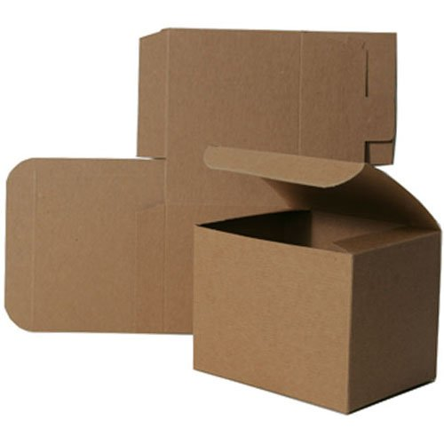 6x6x4 Open Lid Kraft Gift Boxes - Sold individually