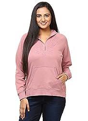 GRAIN pink Color Regular fit Cotton Jackets for Women