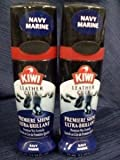 Navy Blue Kiwi Leather Instant Wax Shine x 2 Bottles