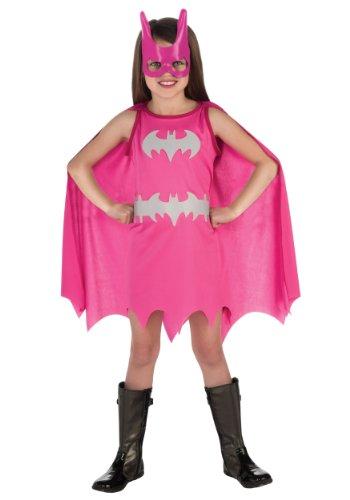 New-BATGIRL-Pink-Costume-sz-SMALL-4-6-Girls-Batman-Super-Hero-Costume