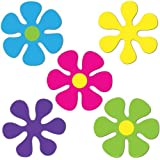 Mini Retro Flower Cutouts Party Accessory (1 count) (10/Pkg)