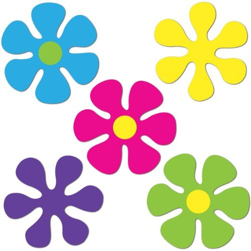 Mini Retro Flower Cutouts   (10/Pkg)