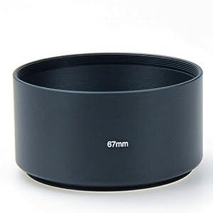 Hooshion 67mm 67 Professional Telephoto Metal Lens Hood 67mm Screw in 67mm Filter Thread