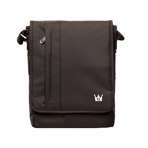 CaseCrown Vertical Multi Pocket Messenger Bag (Chocolate Brown) for the Acer Aspire One Pro 11.6-inch Netbook