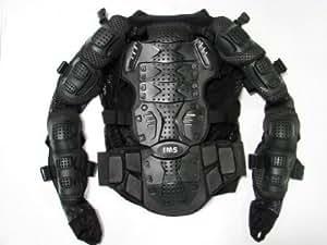 TMS® Motorcycle Full Body Armor Protector Pro Street Motocross ATV Jacket Shirt (Large)