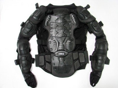 Motorcycle Full Body Armor Protector Pro Street Motocross ATV Jacket Shirt (Large)