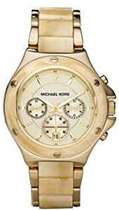 Michael Kors #MK5449 Women's Two Tone Horn Resin Chronograph Wat ch