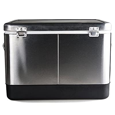 HIO Stainless Steel Chest Cooler With Durable, Rust-proof Steel Latch and Hardware , 54 quart