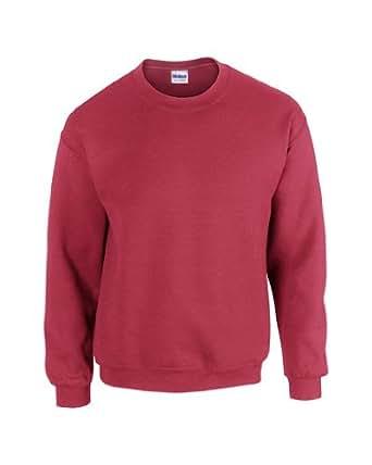 Gildan 18000 Heavy Blend Adults Crew Neck Sweatshirt Antique Cherry Red S