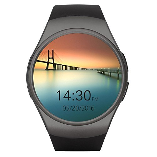 Superwatch Bluetooth Wrist Smart Watches with Camera Heart Rate Support SIM TF Card for IOS iPhone Android Samsung Sony LG Smart Phones (Black)