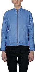 Baba Rancho Women's Regular Fit Jacket (Lj 00214_L, Sky Blue, L)