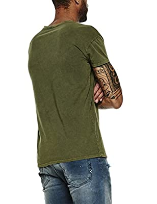 Scotch & Soda Men's Dropped Shoulder Rocker Tee in Peached Jersey T-Shirt