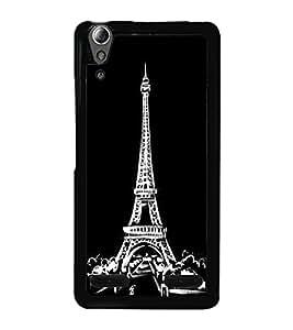 Eiffel Tower 2D Hard Polycarbonate Designer Back Case Cover for Lenovo A6000 Plus :: Lenovo A6000+ :: Lenovo A6000