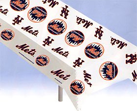 New York Mets Plastic Table Cover