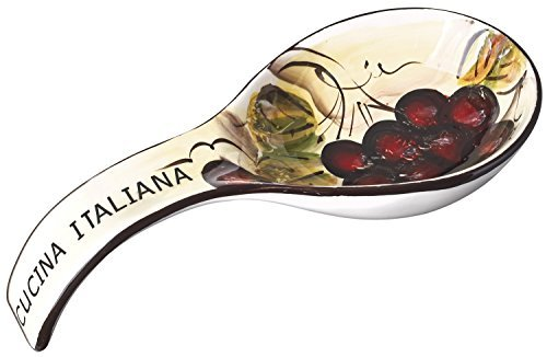 Original Cucina Italiana Ceramic Deep Spoon Rest, 9
