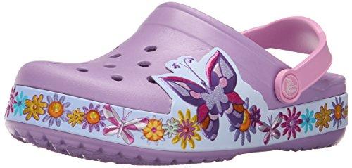 Crocs Crocband Butterfly K, Mädchen Clogs, Violett