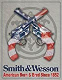 Smith and Wesson American Born and Bred Handgun Retro Vintage Tin Sign