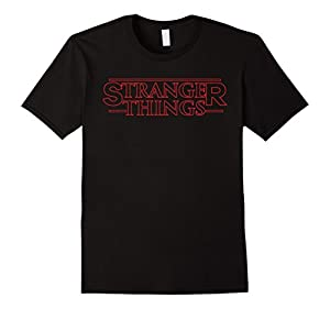 Men's Stran-ger and Things tshirt XL Black