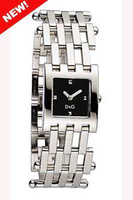 D & G Watch Bellevue Ss Black Dial Brc Dw0405