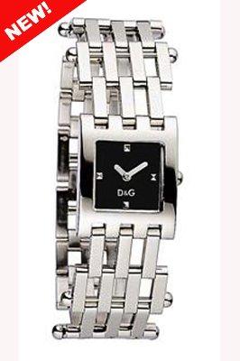 D&G Dolce&Gabbana D&G Bellevue - Reloj analógico de mujer de cuarzo con correa de acero inoxidable plateada
