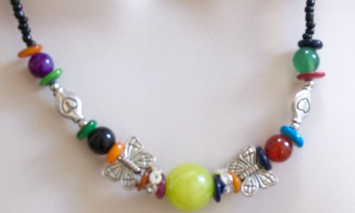 Butterfly Necklace for Girls Beaded Jewelry