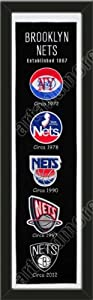 Heritage Banner Of Brooklyn Nets-Framed Awesome & Beautiful-Must For A... by Art and More, Davenport, IA