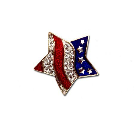 Patriotic Wavy Star Brooch/Pin