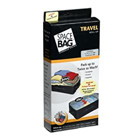 ITW Space Bag BRS-9120ZG Travel Roll Bags: 2 Pack - 1 Carry-On and 1 Suitcase Size Bag