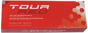 Dunlop Mens Tour Red Golf Balls (Pack of 12) by Dunlop