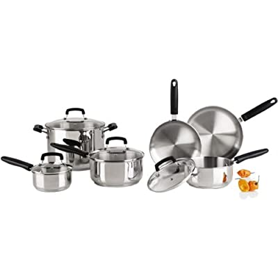 Revere 10-pc Stainless Steel Set with Tri-Ply Bottom