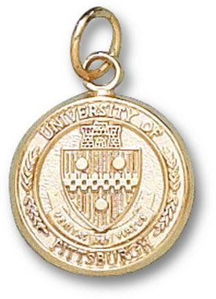 Pittsburgh Panthers Seal 1 2 Charm - 14KT Gold Jewelry by Logo Art