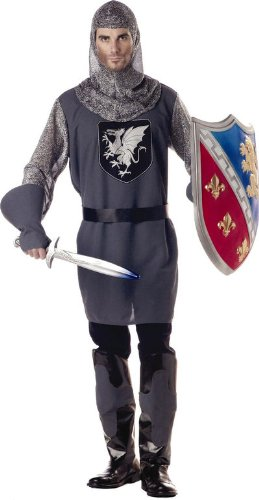 Men Large (4244) Adult Valiant Knight Costume (Sword and Shield not included)