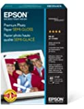 Epson Premium Photo Paper SEMI-GLOSS (4x6 Inches, 40 Sheets) (S041982)