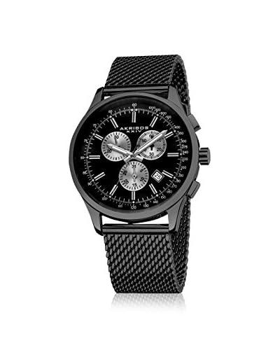 Akribos XXIV Men's AK625BK Black Mesh Watch