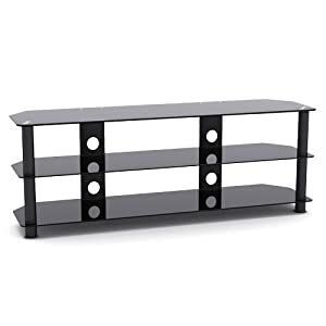 The Best  G-VO 3 Shelf Tempered Glass TV Stand for LED LCD Plasma TV