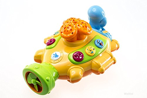WolVol Moon and Stars Projector Submarine Toy with Music and Interesting Functions, Adjustable Volume