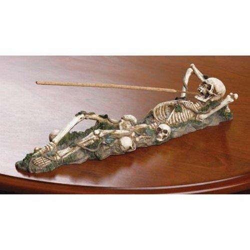 Soporte para quemador de incienso de esqueleto