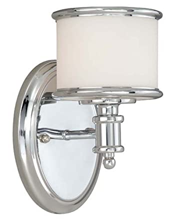 Led Wall Sconce Light Fixtures : Vaxcel USA CRVLU001CH Carlisle 1 Light Transitional Wall Sconce Lighting Fixture in Chrome ...