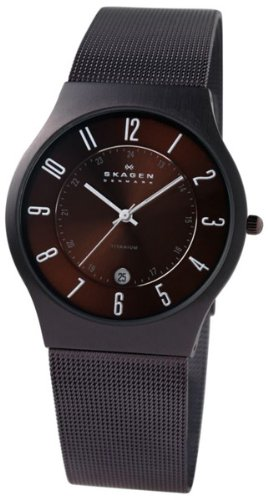 Skagen Mens Watch 233XLTMD with Brown Stainless Steel Bracelet and Brown Dial