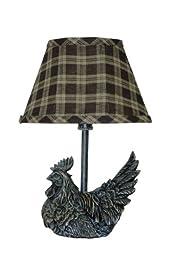 AHS Lighting L341C-UP1 Mini Black Rooster Plaid Shade Lamp