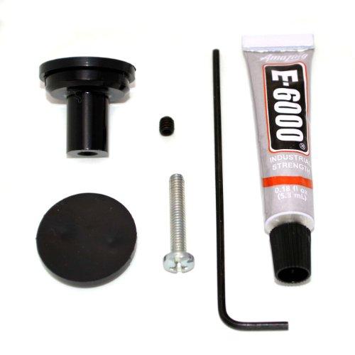 Cameleon Hardware Bkk2-Black 2-Pack Cabinet Knob Kit, Black front-84980