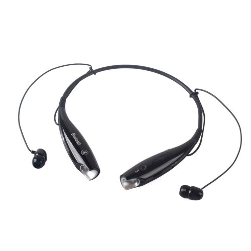 Universal Hv-800 Wireless Music A2Dp Stereo Bluetooth Headset Neckband Style Headset Earphone Headphone For Cellphones Such As Iphone, Nokia, Htc, Samsung, Lg, Moto, Pc, Ipad, Psp And So On & Enabled Bluetooth (Black)